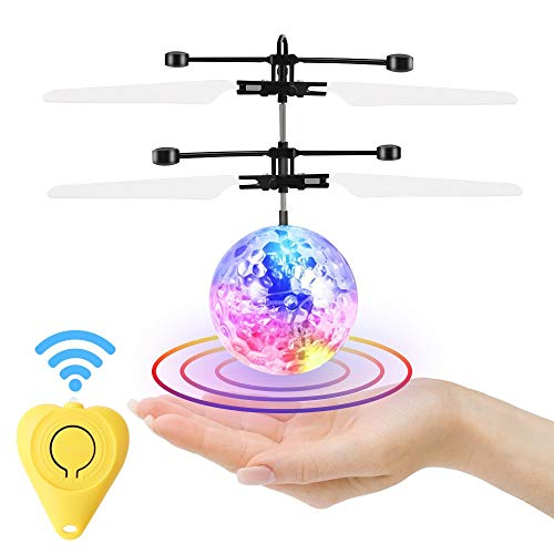 Flying Ball, Remote Control Helicopter Mini Drone Magic RC Kids Toys with Flashing LED Lights for Boys Girls Teenagers Birthday Xmas Children's Day