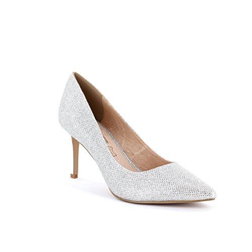 Buffalo H733-c002a-4 - Zapatos de vestir para mujer plateado