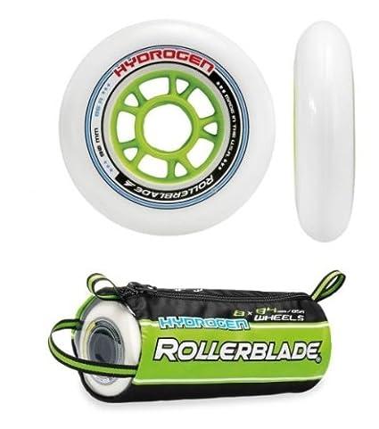 Rollerblade - Ruedas para patines hydrogen 90/85a, color blanco