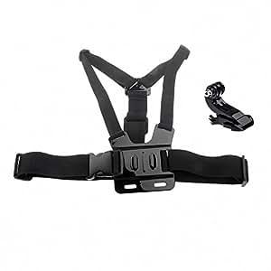 SHINEDA Adjustable Chest Harness Mount with J Hook Mount for GoPro Hero 1 2 3 3+ 4 cameras