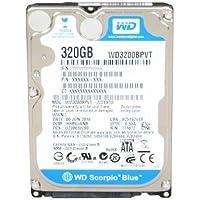 WESTERN DIGITAL WD3200BPVT Scorpio Blue 320GB 5400 RPM 8MB cache SATA 3.0Gb/s 2.5 internal notebook hard drive (Bare Dri