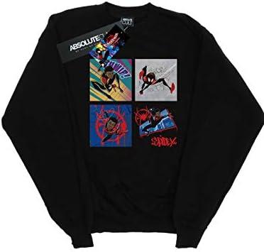 Marvel Herren Spider-Man Into The Spider-Verse Four Squares Sweatshirt Schwarz XXX-Large