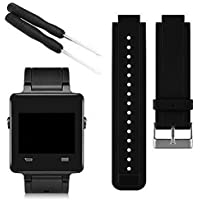 World2home Newest Silicone Replacement Watch Band Wrist Support Watchband Strap Bracelet for Garmin Vivoactive Smart Watch Band With Tools (Black)