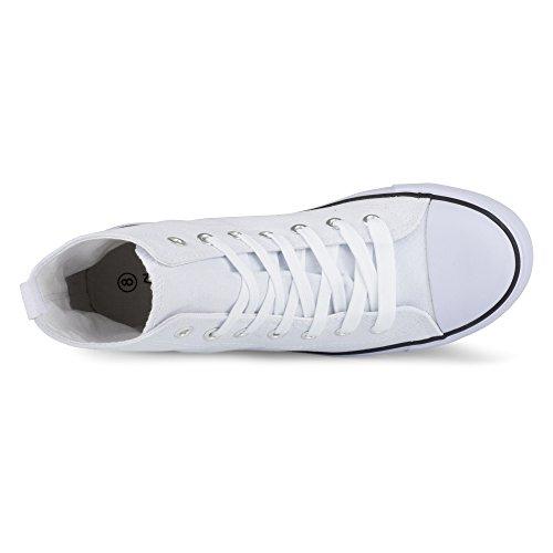 Vridd Womens Kix Hi-top Snøring Mote Sneaker Hvit