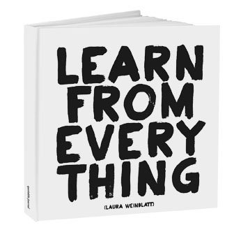 Quotables ''Learn From Everything'' Journal 8'' Square Hard Cover
