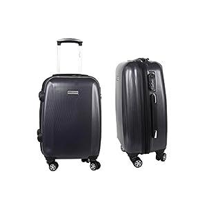 Valigia trolley rigido PIERRE CARDIN blu mini bagaglio a mano ryanair S295 9c2bf6d7a38d