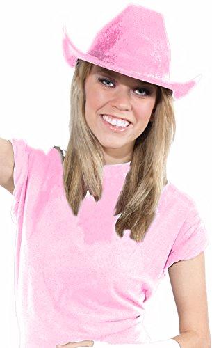 Deluxe Cowboy Hat Team Spirit Adult Unisex, Pink, School Team Colors Fan Gear