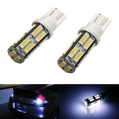 iJDMTOY (2) Xenon White 18-SMD T10 T15 LED Bulbs For Car Backup Reverse Lights, Bulb Size 912 920 921 906 iJDMTOY Auto Accessories Convert Incandescent Reverse to LED Bulb