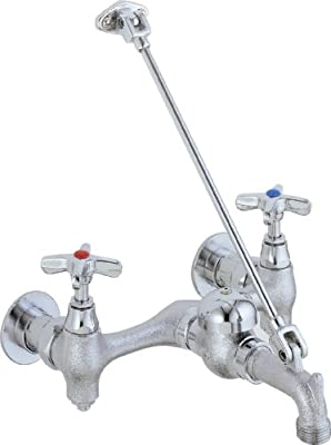 Delta Faucet 28T9 28T Two Handle 8-Inch Wall-Mount Service Sink Faucet, Chrome