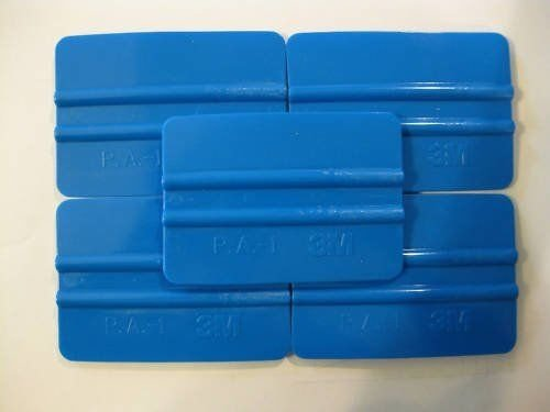 3M 71601 Pack of (5) Blue Plastic Squeegee