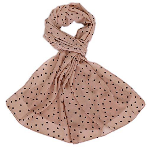 LMVERNA Solid Color Bubble Chiffon Scarf Women Muslim Hijab Long Scarf wrap Scarves (Dot-Nude)