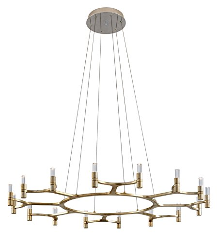 Corbett Lighting 258-016 Nexus Chandelier, 16-Light, Silver