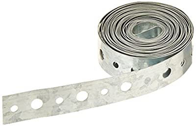 "Galvanized Pipe Strap, 3/4"" x 10' x 24 Gauge"