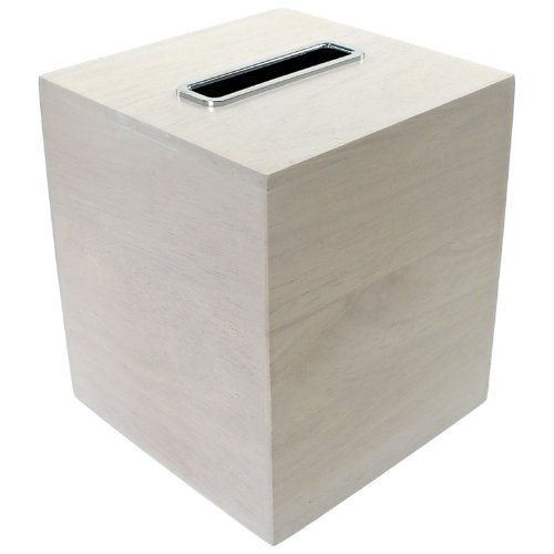 Gedy Papiro Tissue Box Made from Wood, White - Nameeks Box