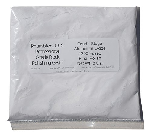 Rock Tumbler Grit for 15 pound Tumbler With 1 Pound Plastic Buffering Pellets by RTumbler Professional Grade Rock Polishing Grit (Image #4)