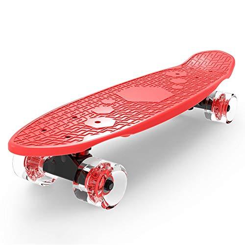 Vortex Skateboard Wheels - YRYRGXQ Scooters Children Skateboard 3-6 Years Old Four Rounds Boy Girl Student Beginner Small Fish Plate,F