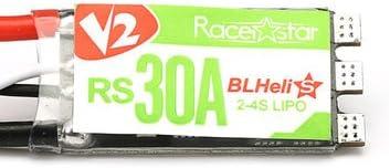 MELCT Racerstar RS30A V2 30A Blheli_S ESC OPTO 2-4S Soporte Oneshot42 Multishot 16.5 Dshot600