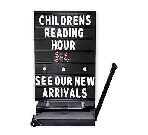 (Black Rolling Springer Message Board Sign, 24