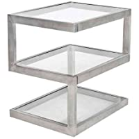 WOYBR TB-5S SS Stainless Steel, Glass 5S End Table