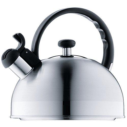 WMF ORBIT Hervidor de agua con silbato 1 5 L, hervidor de agua con flauta, acero inoxidable Cromargan, induccion