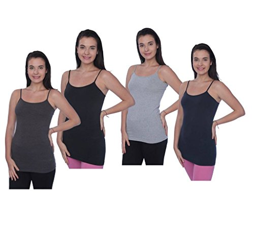 Beverly Rock Womens Missy and Plus Size Spaghetti Strap Long Tank Top Camis Basic Camisole