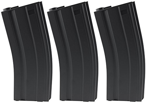 SportPro CYMA 190 Round Metal Medium Capacity Magazine for AEG M4 M16 3 Pack Airsoft - Black (Best Drum Mag For Ar 15)
