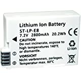 SDV ID Bat Can LP E8 2800mAh Replacement Battery for Canon Camera