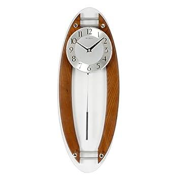 Wm.Widdop W7850 - Reloj de pared con péndulo, madera y acabado de cristal: Amazon.es: Hogar