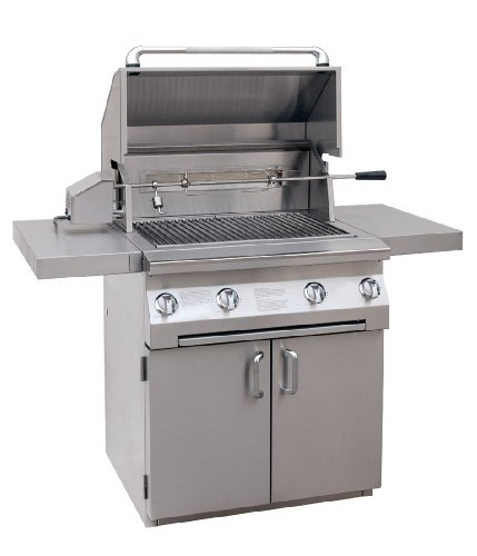 Solaire 30-Inch Infrared Propane Cart Grill with Rotisserie