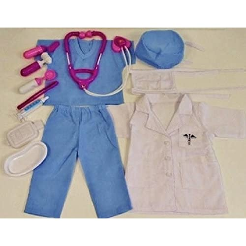 10 Piece Nurse, Doctor, Scrubs Doll Clothes fits 18 Inch American Girl Doll PLUS Medical Kit #7