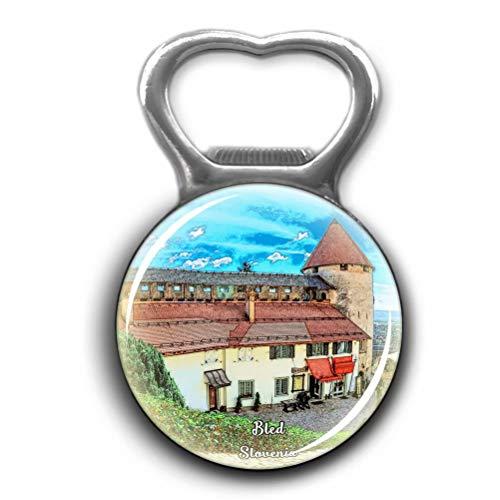 Bled Castle Slovenia Opener Metal Fridge Magnet Crystal Glass Round Beer Bottle Opener City Souvenir Home Kitchen Decoration Gifts