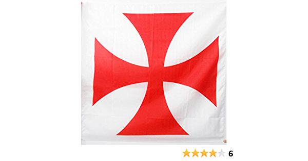 AZ FLAG Bandera del Orden del Temple 90x90cm para Palo - Bandera Ejercito DE Francia 90 x 90 cm: Amazon.es: Jardín