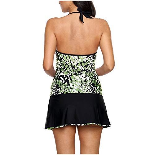 Petto green Donna Pantaloni Sul Scollo l Costume Da Con Divisi V A E Twa41v