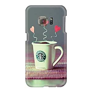 Anti-Scratch Hard Phone Covers For Samsung Galaxy S6 (ufI5155XJIh) Customized Realistic Starbucks Creative Beauty Hd Pattern