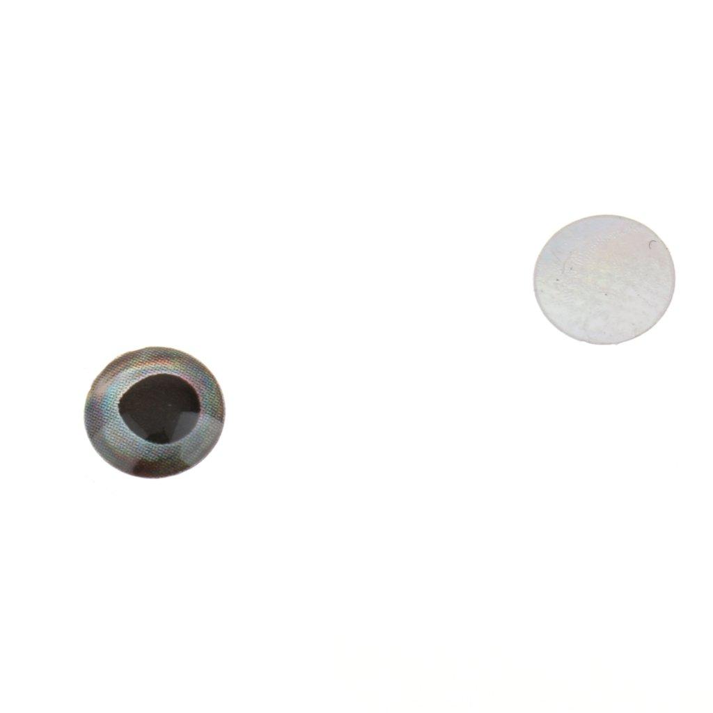 Gazechimp 183er//set Fischaugen f/ür Kunstk/öder Gummifische K/öder Puppen Ersatz Augen Gemischte Gr/ö/ße 3//4//5//6 mm Selbstklebend