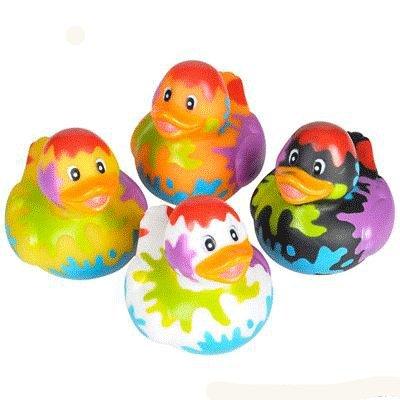 Artist Paint Party Rubber Ducks - 12 ct (Ducky Duck Party Favors)