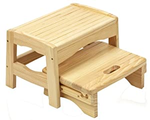 Safety 1st Wooden 2 Step Stool Natural Safety 1st