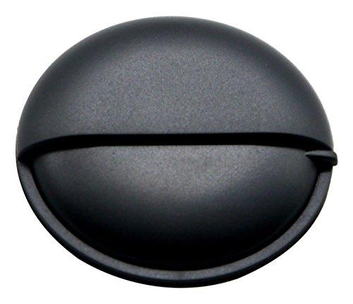 (PuTwo Pill Organizer for Purse, Small Travel Pill Case, Round Metal Pill Box-Black)