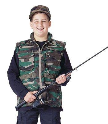 Woodland Camouflage Ranger Vest - Rothco Kids Ranger Vest - Woodland Camo, X-Small