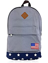 NICOSHINE NB0001S Patriotic Canvas Backpack School Bag