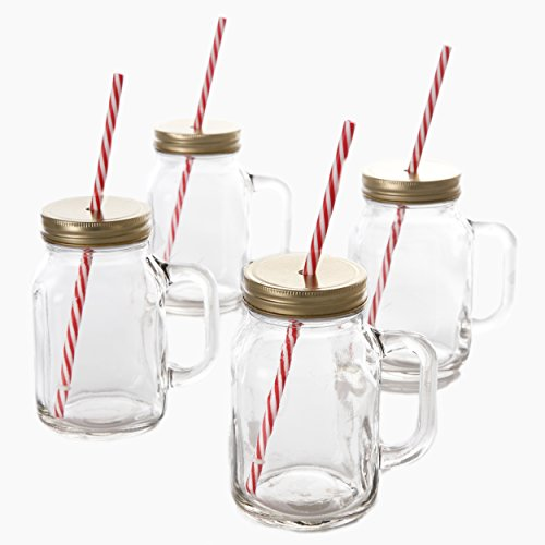 Gibson Home General Store Cottage Chic Mason Jar (4 Pack)