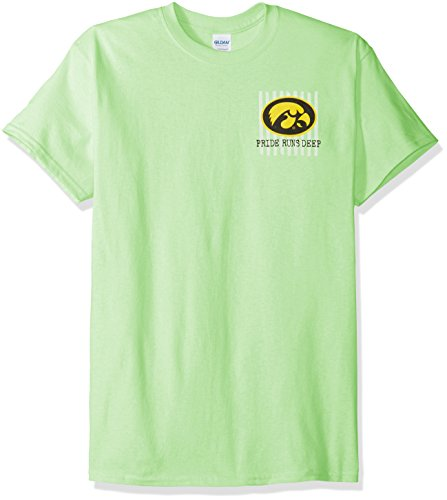 - NCAA Iowa Hawkeyes Spirit Short Sleeve T-Shirt, XX-Large, Mint