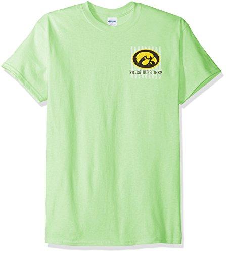 - New World Graphics NCAA Iowa Hawkeyes Spirit Short Sleeve T-Shirt, Small, Mint