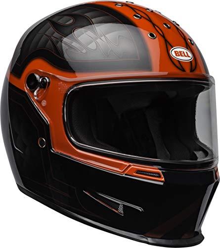 Bell Eliminator Street Motorcycle Helmet (Gloss Outlaw Gloss Black/Red, XX-Large) - Dot Outlaw Gloss