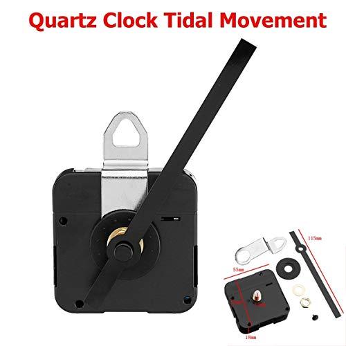 For Tide Quartz Controlled Clock Movement Motor Mechanism 115mm Hands Fitting Classic Hanging Black Quartz Watch Wall Clock