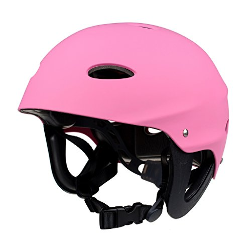 Jili Online Safety Helmet Hard Hat Protective Gear for Water Sports Kayaking Canoeing Surfing Rafting Boating - Pink by Jili Online