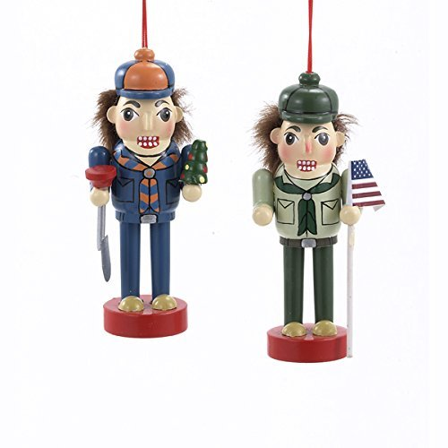 Boy Scout And Cub Scout Nutcracker Ornament Set OF 2 by Kurt Adler (Nutcracker Scout)