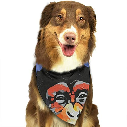 Heart Yan Modern Gorilla Monkey Music Dog Bandana Triangle Bibs Bright Coloured Scarfs Accessories for Dogs Pet Cats and Baby Puppies Bow Tiess -
