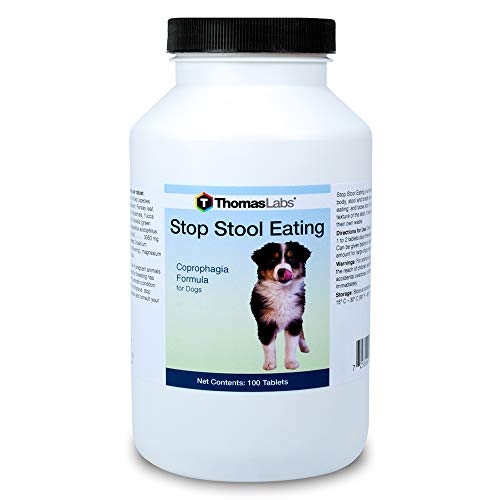 Thomas Labs Stop Stool Eating Deterrent for Dogs - Coprophagia Deterrent - (100 Tablets)