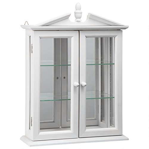 Design Toscano BN17221 Amesbury Manor Wall Curio Cabinet, Lily White by Design Toscano